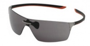 Tag Heuer Squadra 5501 Sunglasses Sunglasses - 104 Black-Red Temples / Dark Lug / Grey Lenses