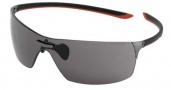 Tag Heuer Squadra 5502 Sunglasses Sunglasses - 104 Black-Red Temples / Dark Lug / Grey Lenses