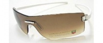 Tag Heuer Club 7507 Sunglasses Sunglasses - 205 White Temples / Gradient Brown Shield