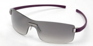 Tag Heuer Club 7508 Sunglasses Sunglasses - 106 Dark Red Temples / Brushed Ruthenium Frame Front / Grey Lenses