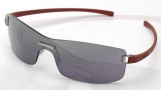 Tag Heuer Club 7508 Sunglasses Sunglasses - 107 Purple Temples / Brushed Ruthenium Frame Front / Gradient Grey lenses