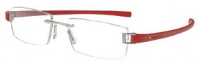 Tag Heuer Track 7102 Eyeglasses Eyeglasses - 003 Palladium Front / Red Temples