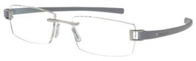 Tag Heuer Track 7102 Eyeglasses Eyeglasses - 005 Palladium Front / Light Grey Temples 