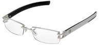 Tag Heuer L-Type 0113 Eyeglasses Eyeglasses - 019 Palladium / Alligator Shiny White / Black