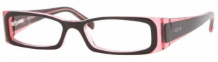Vogue 2584 Eyeglasses Eyeglasses - 1688 Top Black+Transp. Glitter