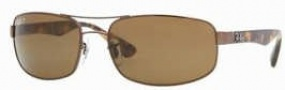 Ray-Ban RB3445 Sunglasses Sunglasses - 014/57 Brown / Crystal Brown Polarized