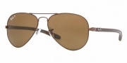 Ray-Ban RB8307 Sunglasses Sunglasses - 014/N6 Brown / Crystal Polarized Brown