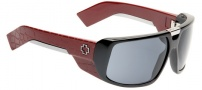 Spy Optic Touring Sunglasses Sunglasses - Black with Burgundy Lasered Temples / Grey (Discontinued Color NLA)