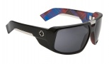 Spy Optic Touring Sunglasses Sunglasses - Matte Black with Plaid / Grey with Black Mirror Lens (Discontinued Color NLA)