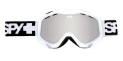 Spy Optic Zed Goggles - Mirror Lenses Goggles - White / Bronze with Silver Mirror