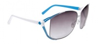 Spy Optic Kaori Sunglasses Sunglasses - White with Blue / Black Fade