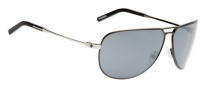 Spy Optic Wilshire Sunglasses Sunglasses - Brushed Gunmetal with Silver Temples / Black Mirror