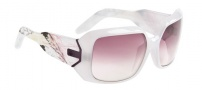 Spy Optic Eliza Sunglasses Sunglasses - Milky Pink with Green Laser Etched / Grey