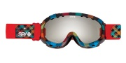 Spy Optic Soldier Goggles - Mirror Lenses Goggles - Black / Bronze with Silver Mirrror + Persimmon