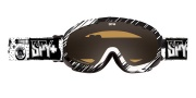 Spy Optic Soldier Goggles - Mirror Lenses Goggles - White / Bronze with Silver Mirror +Yellow