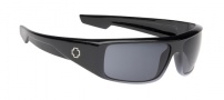 Spy Optic Logan Sunglasses Sunglasses - Shiny Black Fade / Grey