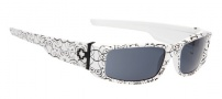 Spy Optic Hielo Sunglasses Sunglasses - Shiny White with Black Brocade Print / Grey