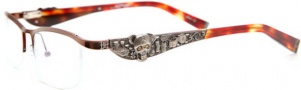 Ed Hardy EHO 703 Eyeglasses Eyeglasses - Latte