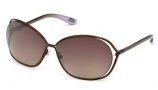 Tom Ford FT 0157 Carla Sunglasses Sunglasses - O28P Shiny Rose Gold 