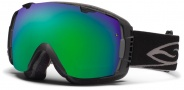 Smith Optics I/O Snow Goggles Goggles - Black / Green Sol X Mirror / Extra Blue Sensor Mirror