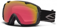 Smith Optics I/O Snow Goggles Goggles - Black / Red Sensor Mirror / Extra Platinum Mirror