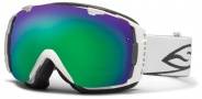 Smith Optics I/O Snow Goggles Goggles - White / Green Sol X Mirror / Extra Blue Sensor Mirror