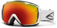 Smith Optics I/O Snow Goggles Goggles - White / Red Sol X Mirror / Extra Red Sensor Mirror