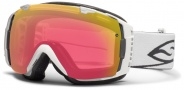 Smith Optics I/O Snow Goggles Goggles - White / Red Sensor Mirror / Extra Platinum Mirror