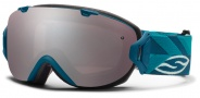 Smith Optics I/OS Snow Goggles Goggles - Teal Riviera / Ignitor Mirror / Extra Blue Sensor Mirror