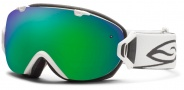 Smith Optics I/OS Snow Goggles Goggles - White / Green Sol X Mirror / Extra Blue Sensor Mirror