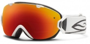 Smith Optics I/OS Snow Goggles Goggles - White / Red Sol X Mirror / Extra Red Sensor Mirror