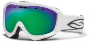 Smith Optics Prophecy Snow Goggles Goggles - White / Green Sol X Mirror