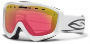 Smith Optics Prophecy Snow Goggles Goggles - White / Red Sensor Mirror
