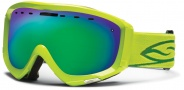 Smith Optics Prophecy Snow Goggles Goggles - Lime / Green Sol X Mirror