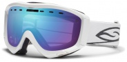 Smith Optics Prophecy Snow Goggles Goggles - White / Blue Sensor Mirror