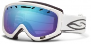 Smith Optics Phenom Snow Goggles Goggles - White / Blue Sensor Mirror