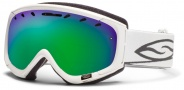 Smith Optics Phenom Snow Goggles Goggles - White / Green Sol X Mirror