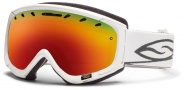 Smith Optics Phenom Snow Goggles Goggles - White / Red Sol X Mirror