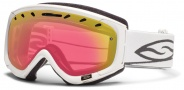 Smith Optics Phenom Snow Goggles Goggles - White / Red Sensor Mirror