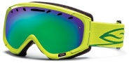 Smith Optics Phenom Snow Goggles Goggles - Lime / Green Sol X Mirror