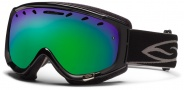 Smith Optics Phenom Snow Goggles Goggles - Black / Green Sol X Mirror