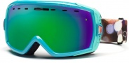 Smith Optics Heiress Snow Goggles Goggles - Ultramarine Night Out Green Sol-X Mirror 