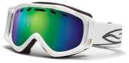 Smith Optics Stance Snow Goggles Goggles - White / Green Sol X Mirror / Extra Yellow Lens