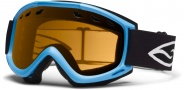 Smith Optics Cascade Snow Goggles Goggles - Cyan / Gold Lite