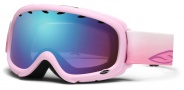 Smith Optics Gambler Junior Snow Goggles Goggles - Pink Flutterby / Blue Sensor Mirror