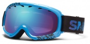 Smith Optics Gambler Junior Snow Goggles Goggles - Cyan Fader / Blue Sensor Mirror