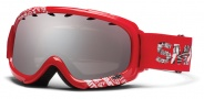 Smith Optics Gambler Junior Snow Goggles Goggles - Red Fader / Ignitor Mirror