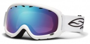 Smith Optics Gambler Junior Snow Goggles Goggles - White / Blue Sensor Mirror