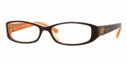 Vogue 2535B Eyeglasses Eyeglasses - 1539  Top Brown/White/Orange