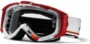Smith Optics INTAKE-X Bike Goggles Goggles - White / Red Max-Clear AFC